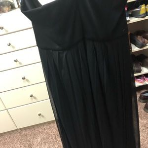 David's Bridal Dresses - David's bridal convertible black bridesmaid dress